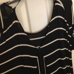 RXB Tops - Black & White Boutique Top